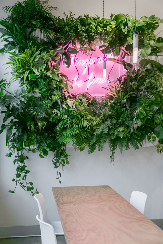 floral and fluorescent wall art / sfgirlbybay