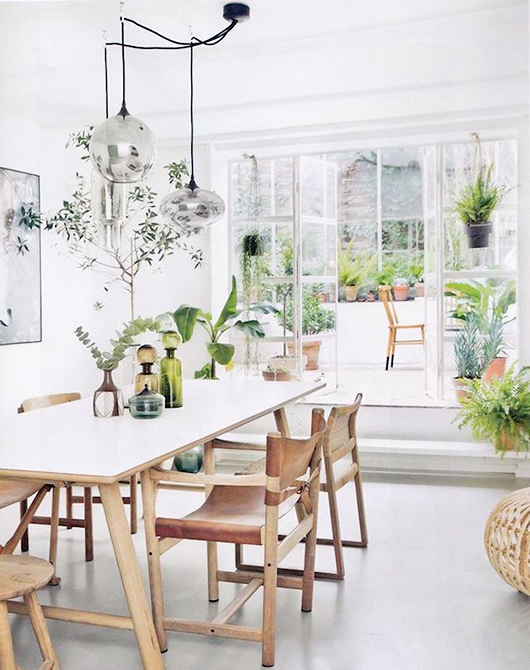 dining room greenery / sfgirlbybay