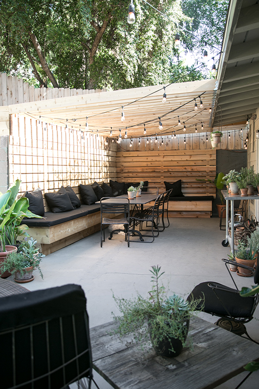 los angeles outdoor dining space / sfgirlbybay