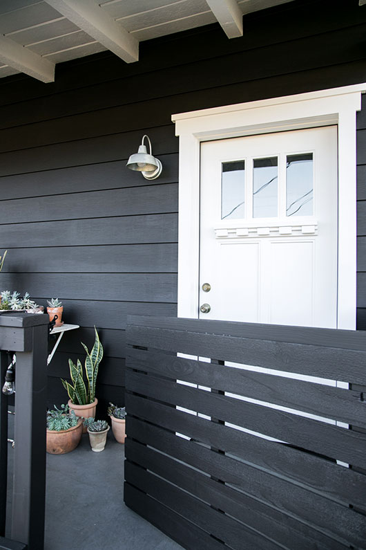 my white front door and black house and gate / sfgirlbybay