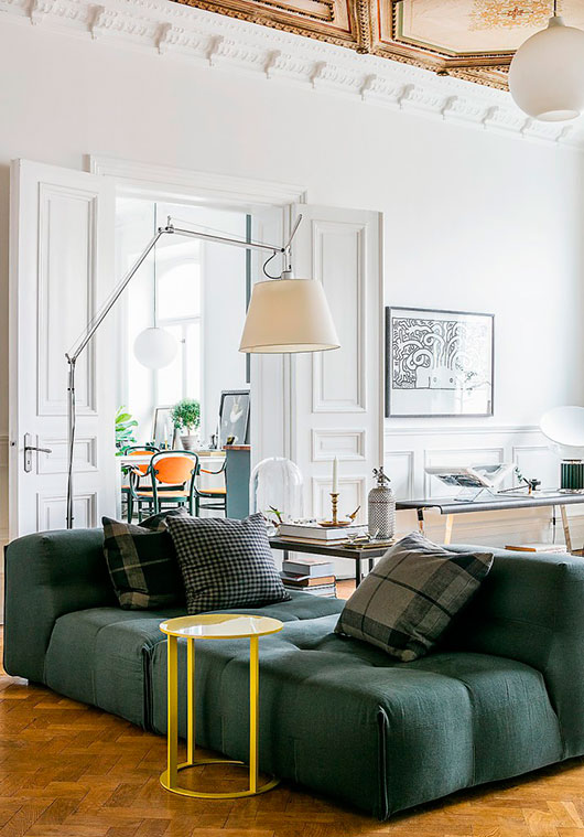 modern color palette in swedish apartment / sfgirlbybay