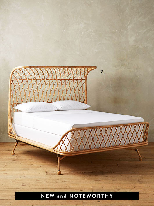 Curved Rattan Bed from anthropologie. / sfgirlbybay