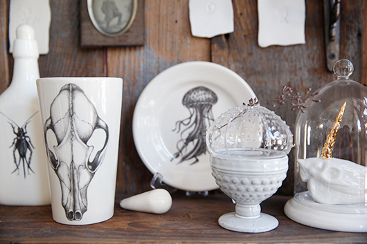 ceramics and glassware at modern relics in san francisco / sfgirlbybay