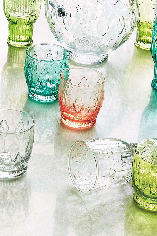 colorful anthropologie glassware / sfgirlbybay
