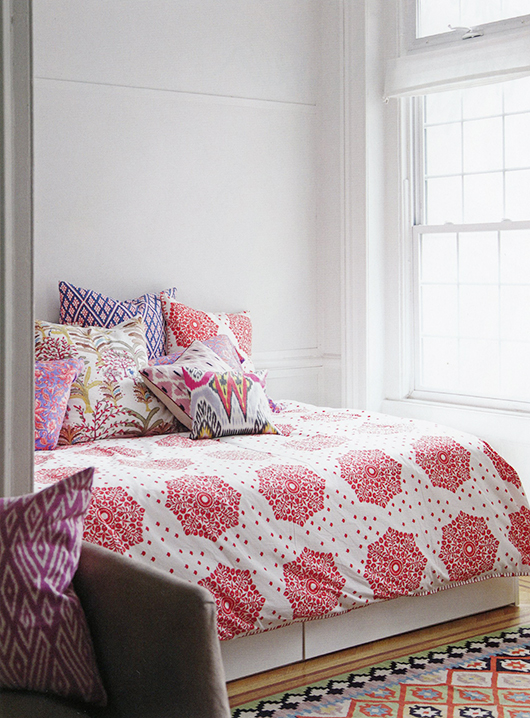 bedding inspiration from rebecca atwood's book, living with pattern. / sfgirlbybay