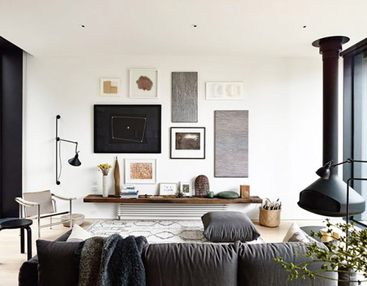 eclectic and modern living room decor / sfgirlbybay