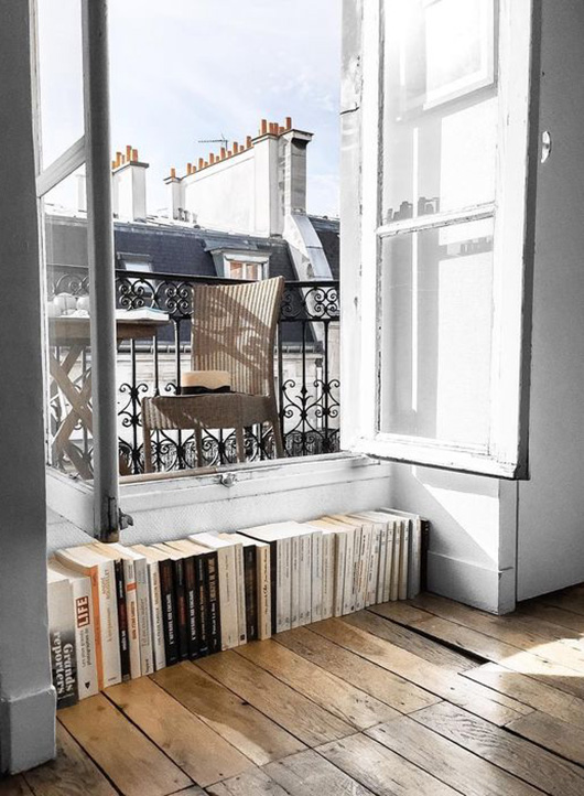 magazines at the ledge of an open window / sfgirlbybay
