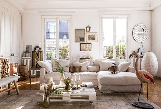 eccentric paris home of Isabel Marant's CEO / sfgirlbybay