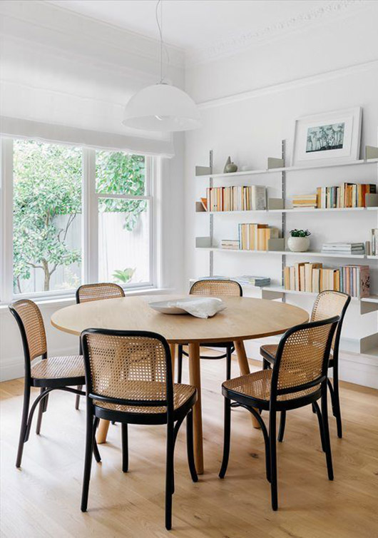 vintage thonet dining chairs. / sfgirlbybay