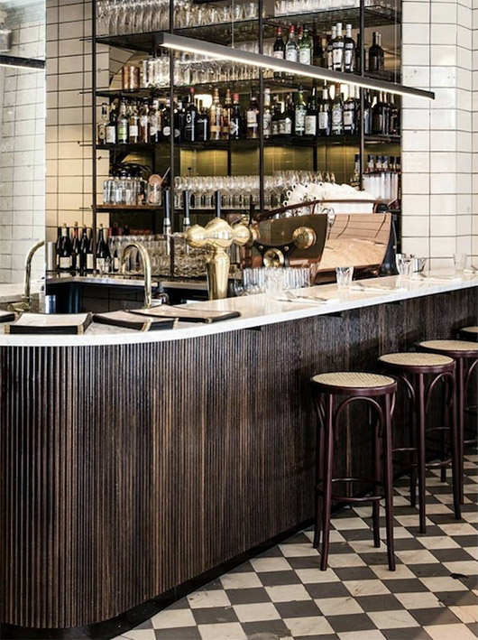 the bar at les trois cochons in copenhagen. / sfgirlbybay