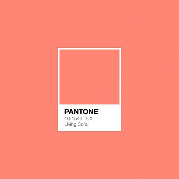 living coral: pantone's color of the year 2019. / sfgirlbybay