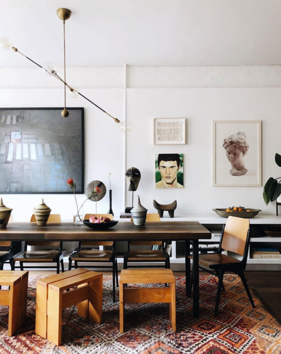 curated home with art gallery wall. / sfgirlbybay