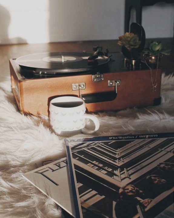 morning coffee and turntable. / sfgirlbybay